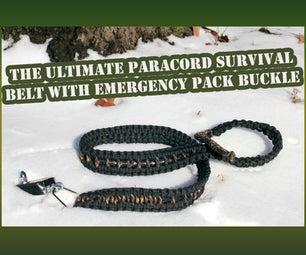终极Survivor Paracord腰带带紧急包扣(低于20美元)