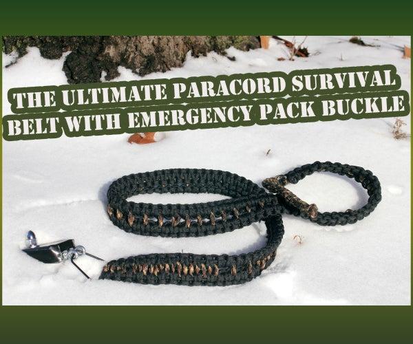 Ultimate Survivor Paracord Belt With Emergency Pack Buckle (Under $20)