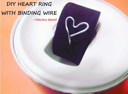 DIY Heart Ring With Binding Wire
