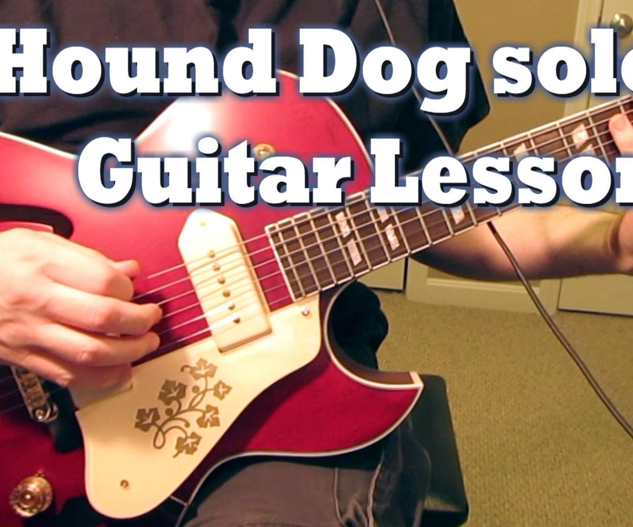 Hound Dog guitar solo #1 lesson
