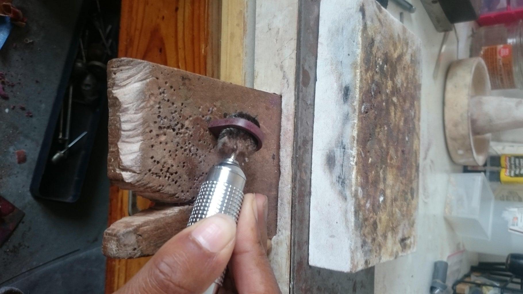 Polishing the Metal Ring