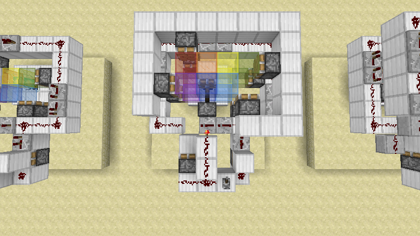 Rainbow Beacon Minecraft 8 Steps Instructables