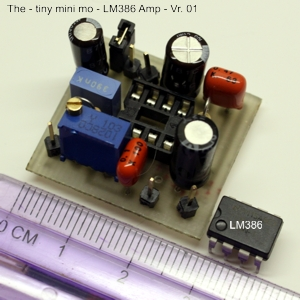 The tiny Audio Amplifier