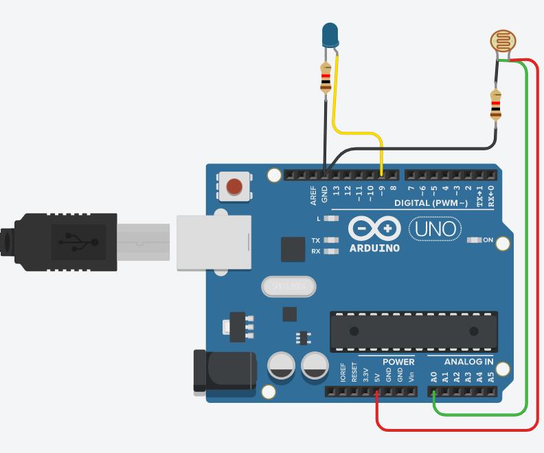 LED Circuit (TinkerCad)