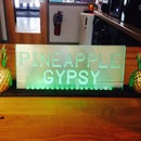 LED Pineapple Gypsy Sign and Stand
