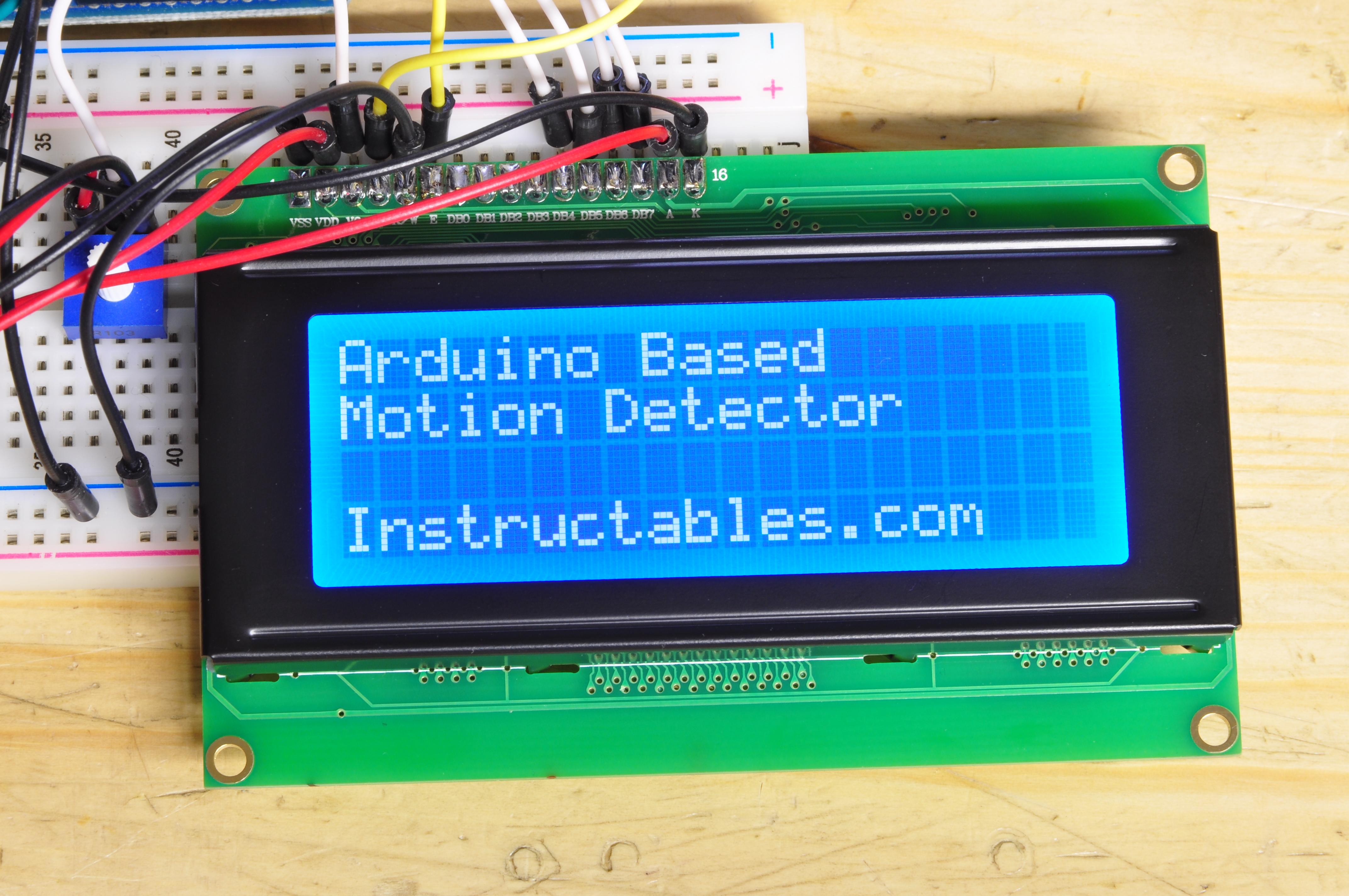 Arduino Controlled Motion Sensor