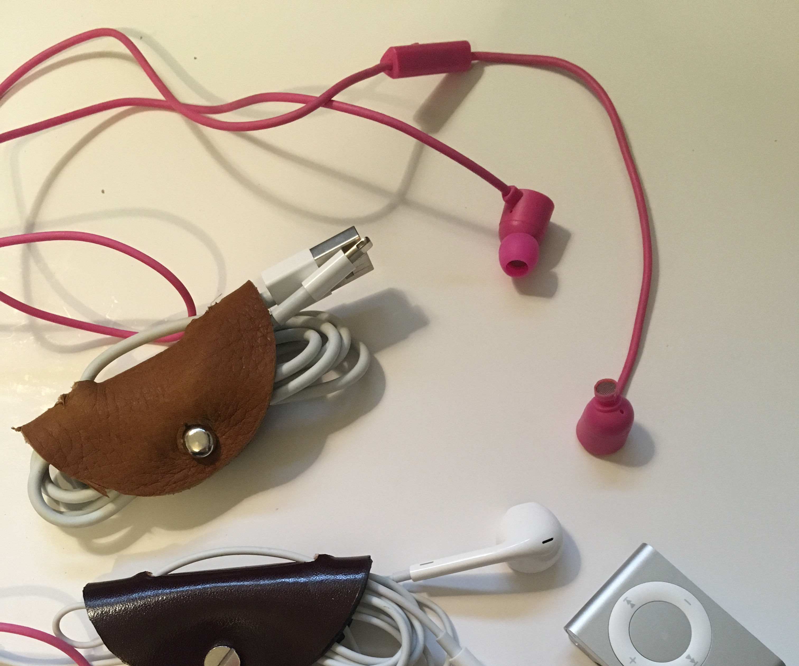Leather Case for Earphones & Cords