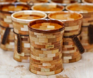Pallet Wood Segmented Candles