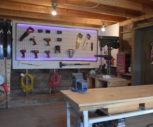 LED Backlit Tool Wall