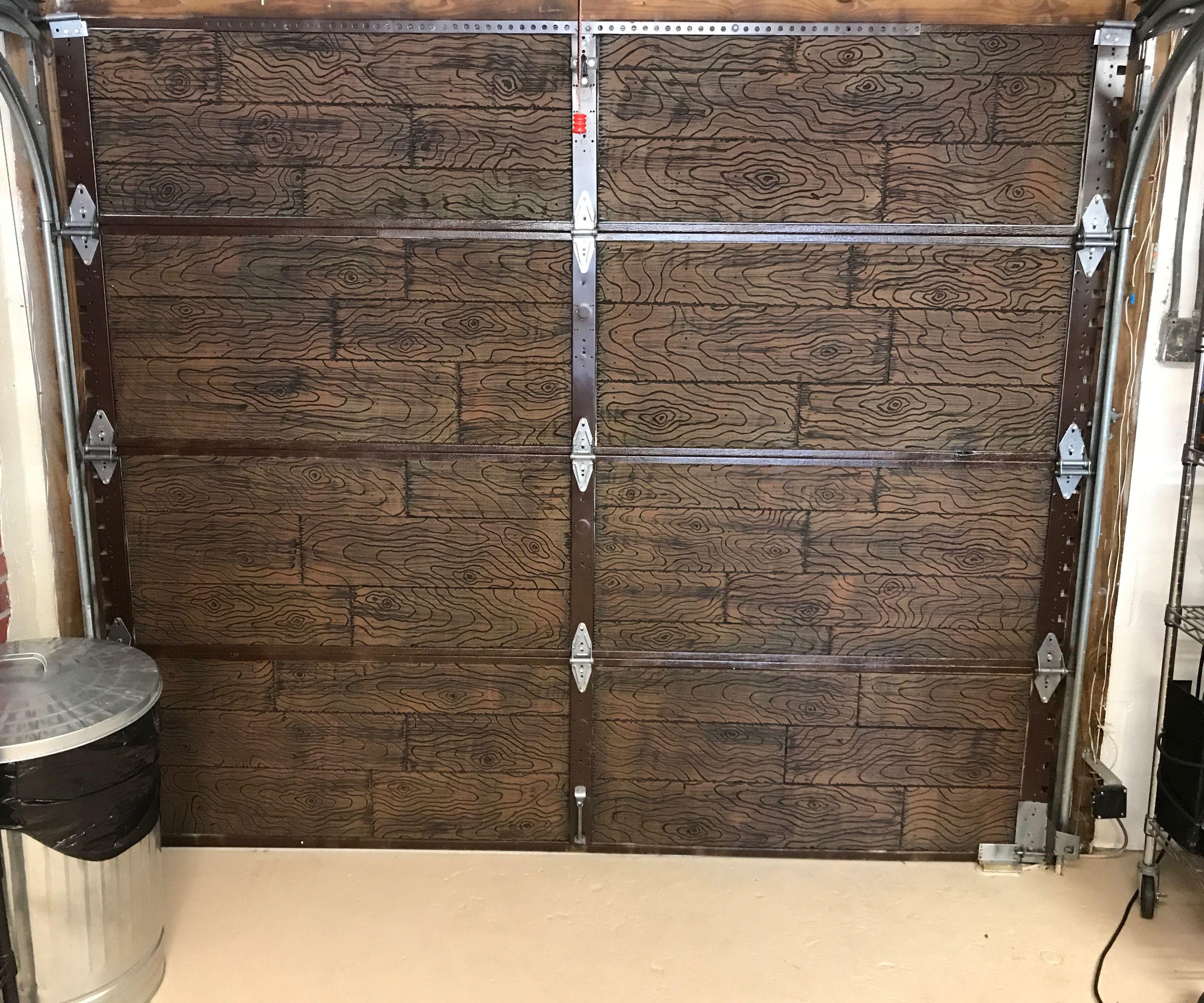 Faux Wood Panels!