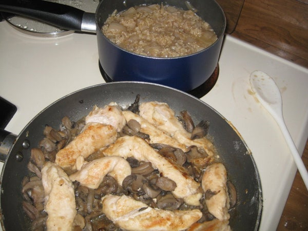 Chicken Marsala With Rice