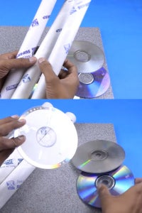 Let's Take Cylindrical Cardboards and CDs!
