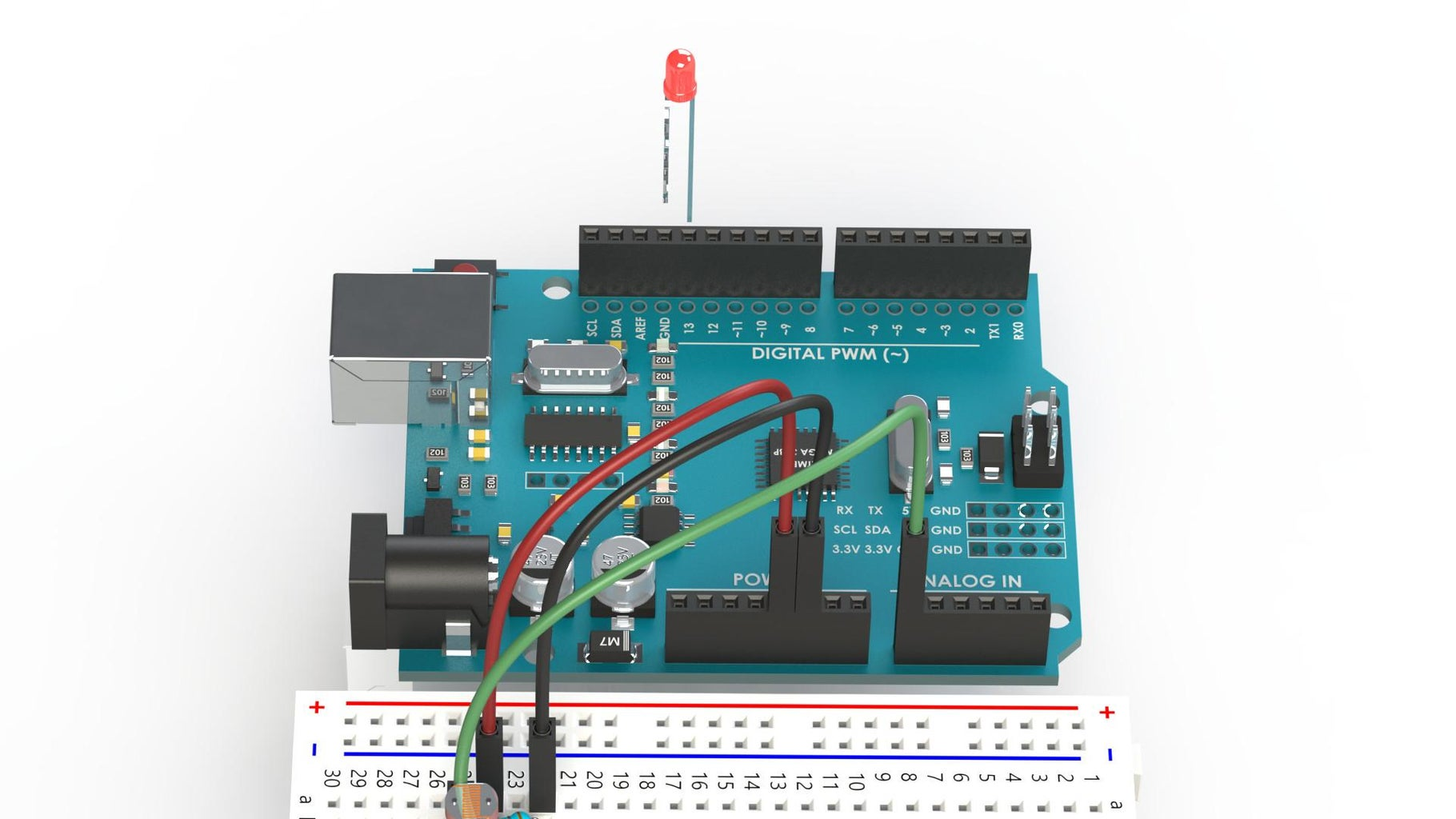 Wiring the LDR With an LED