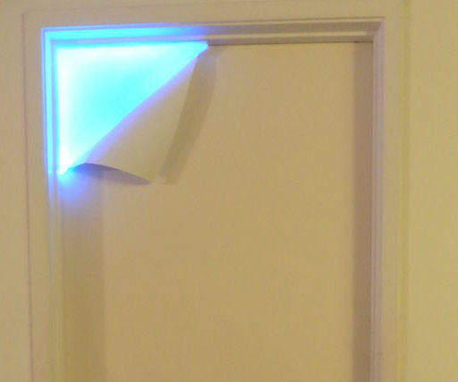 What's Behind the Door? Peel Away Paint LED Lamp/ Night Light