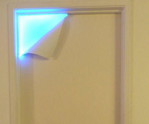 What's Behind the Door? Peel Away Paint LED Lamp/ Night Light