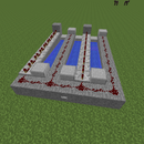 A Triple-shot Minecraft cannon