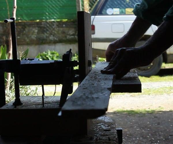 Plywood Pallet Top Challenge - Project 3,  Horizontal Router Table. 1 Contreplaqué Récup, Project 3. Un Contrachapado, Proyecto 3.