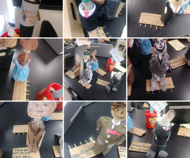 Biography Bottles With Makey Makey