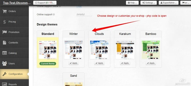 Configure Your Site Design