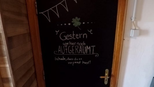 Convert Your Door Into a Chalkboard
