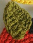 Crocheting the Leaf and Stem
