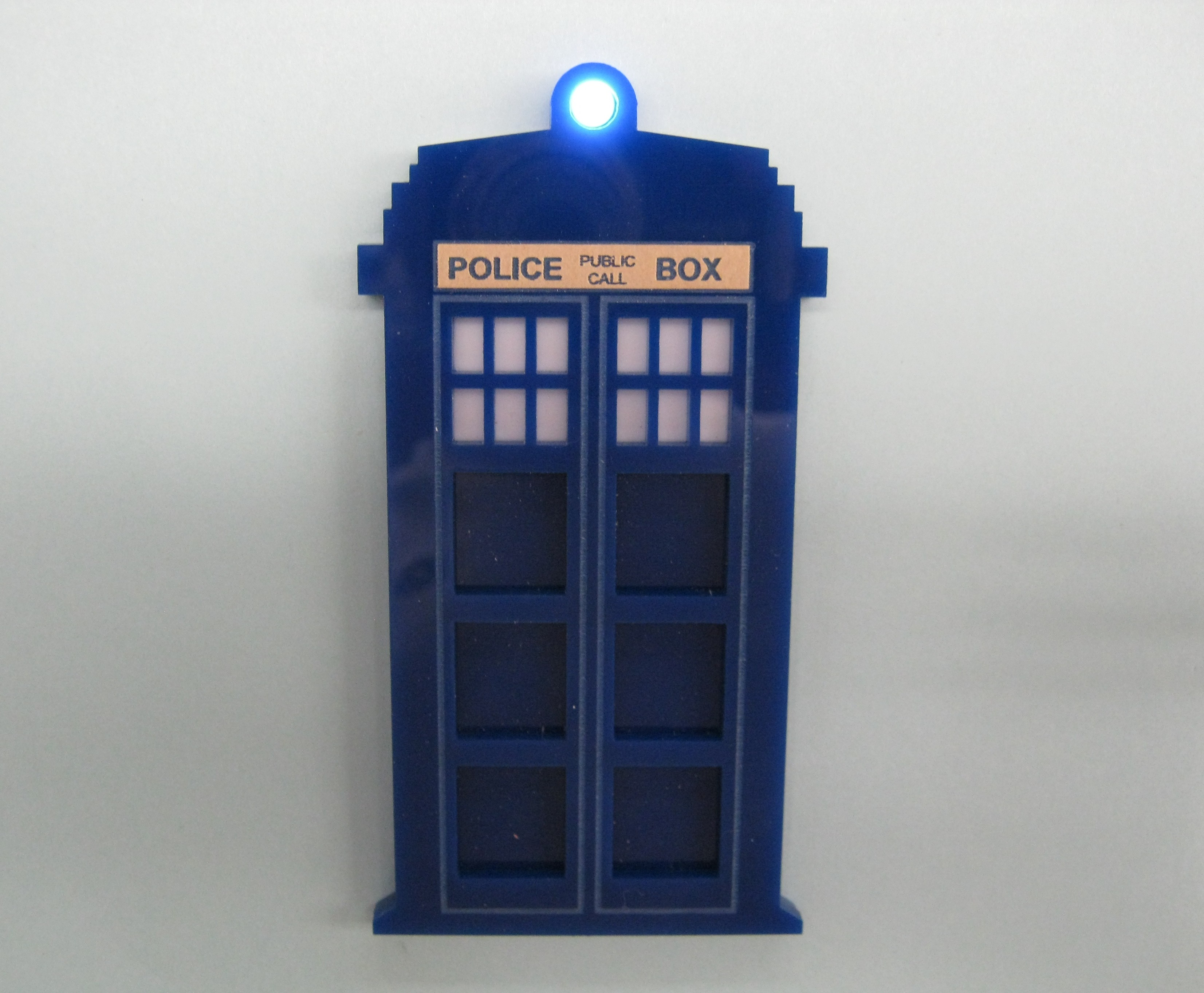 Laser Cut Acrylic TARDIS