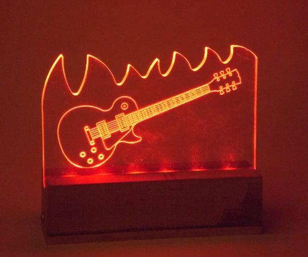 LED Illuminated Les Paul Engraving