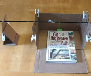 Make a Free/Inexpensive Fishing Rod Wrapping Jig Out of a Cardboard Box