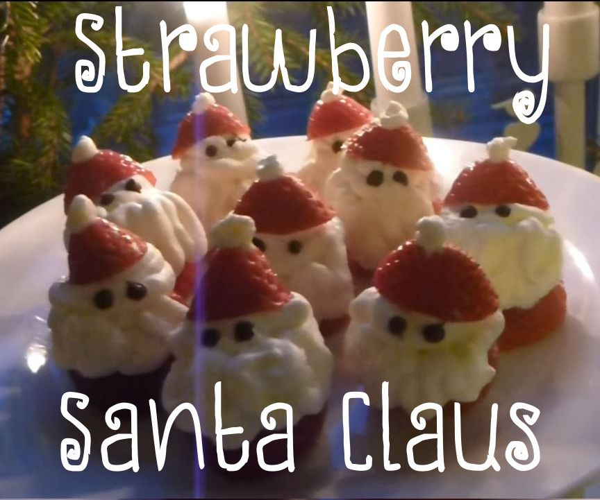 Strawberry Santa Claus - DIY Tutorial
