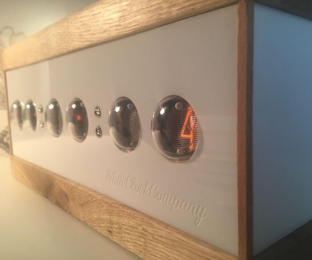 Oak & Acrylic Nixie Clock