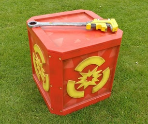 Wooden Ratchet and Clank Explosive Crate