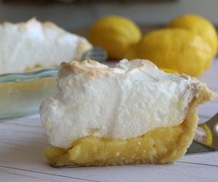 如何制作柠檬蛋白酥皮馅饼