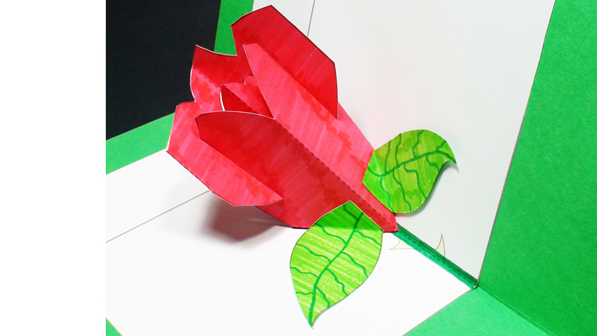 How to make a Rose Pop Up Card (Kirigami 3D) Valentines Day Greeting Card!