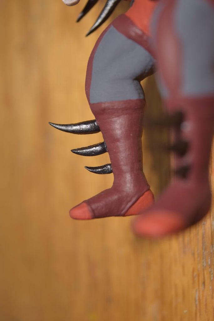 Painting (Hair, Collar, Horns, + Arm & Leg Spikes)