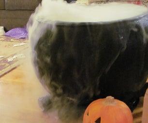 Full Size Haunted Cauldron With Fog