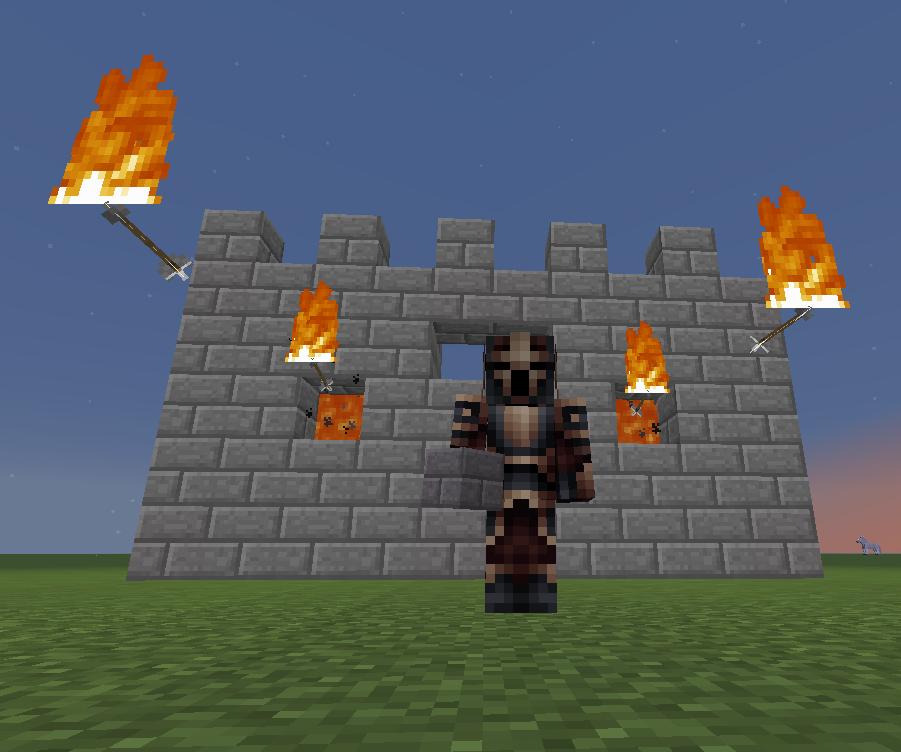 Minecraft Wall of Fire Arrows