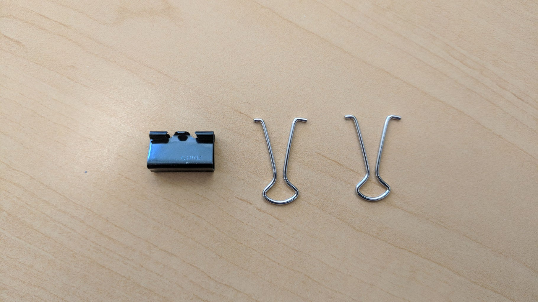 Remove Silver Handles From the Small Binder Clip