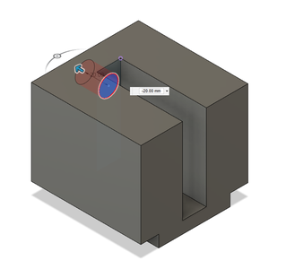 Design Process - Moving Fixture - Load Cell Mounting Hole