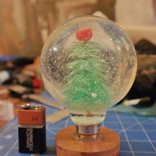 Light Bulb Snow Globes