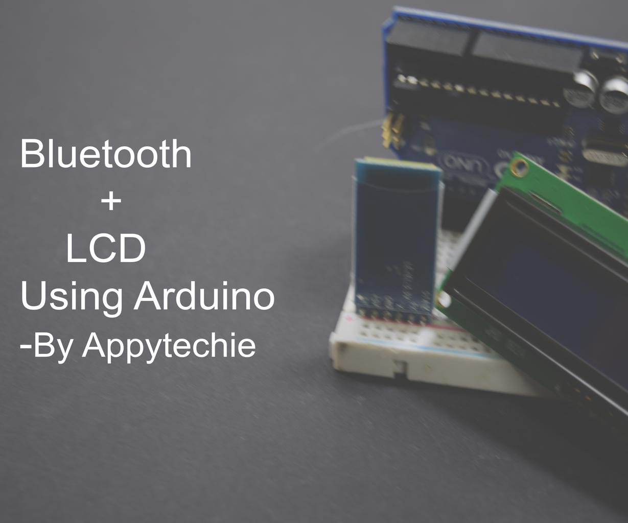 LCD Display Via Bluetooth