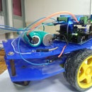 Wireless robot controlled by pointing with your smartphone or by Voice Recognition