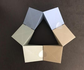 DIN A4 Double Rhombic Pyramid (with Integrated Hinge)