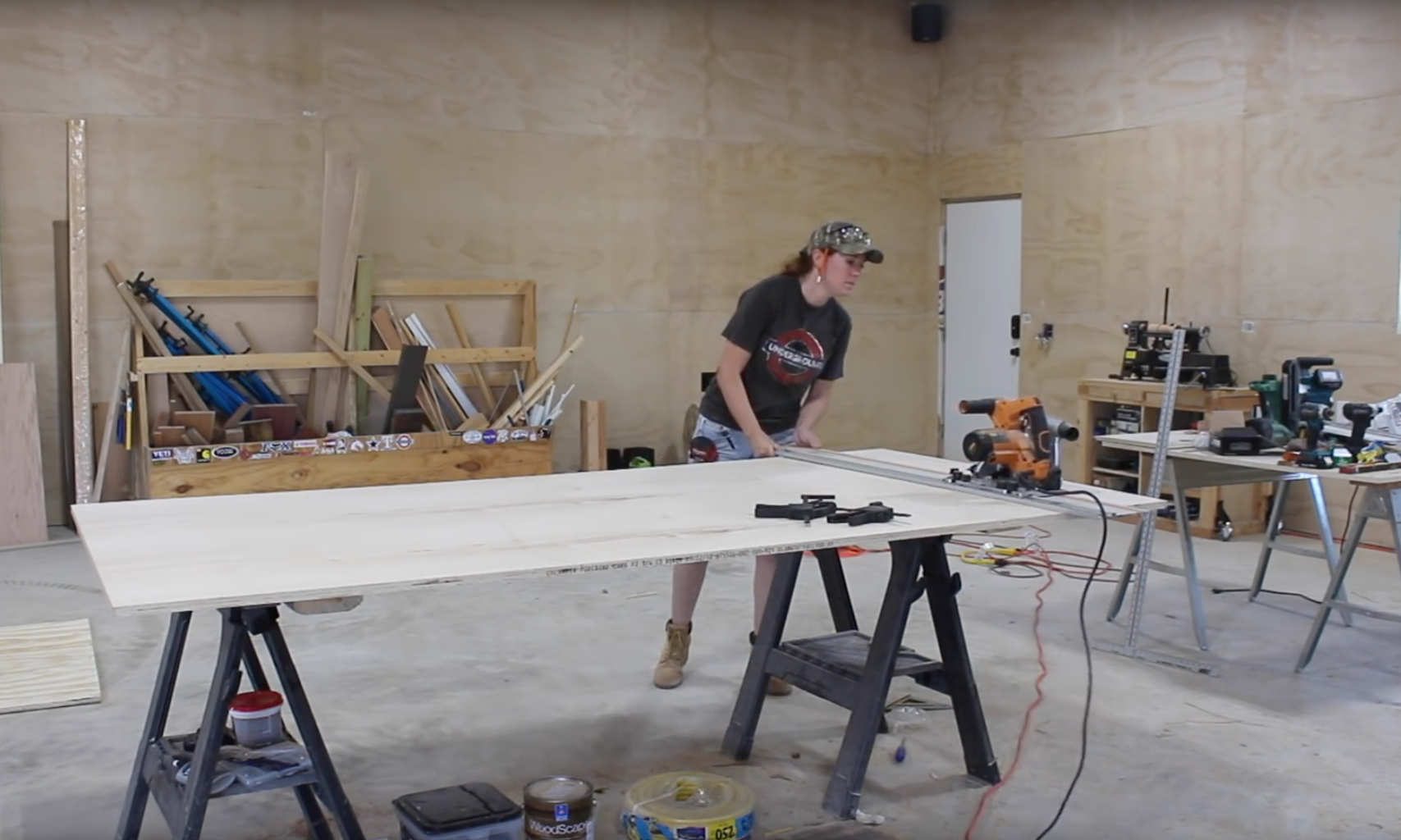 Break Down the Sheets of Plywood