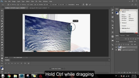 Edit the Image Prespective to Match Screen