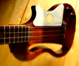 DIY Ukulele Pickguard Pad -  How to Make Sound With an Ukulele Pickguard Pad and Piezoelectric