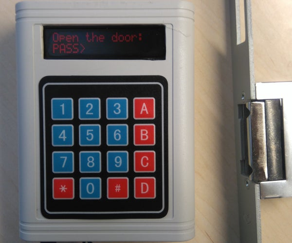 Arduino Password Unlock Door Security System