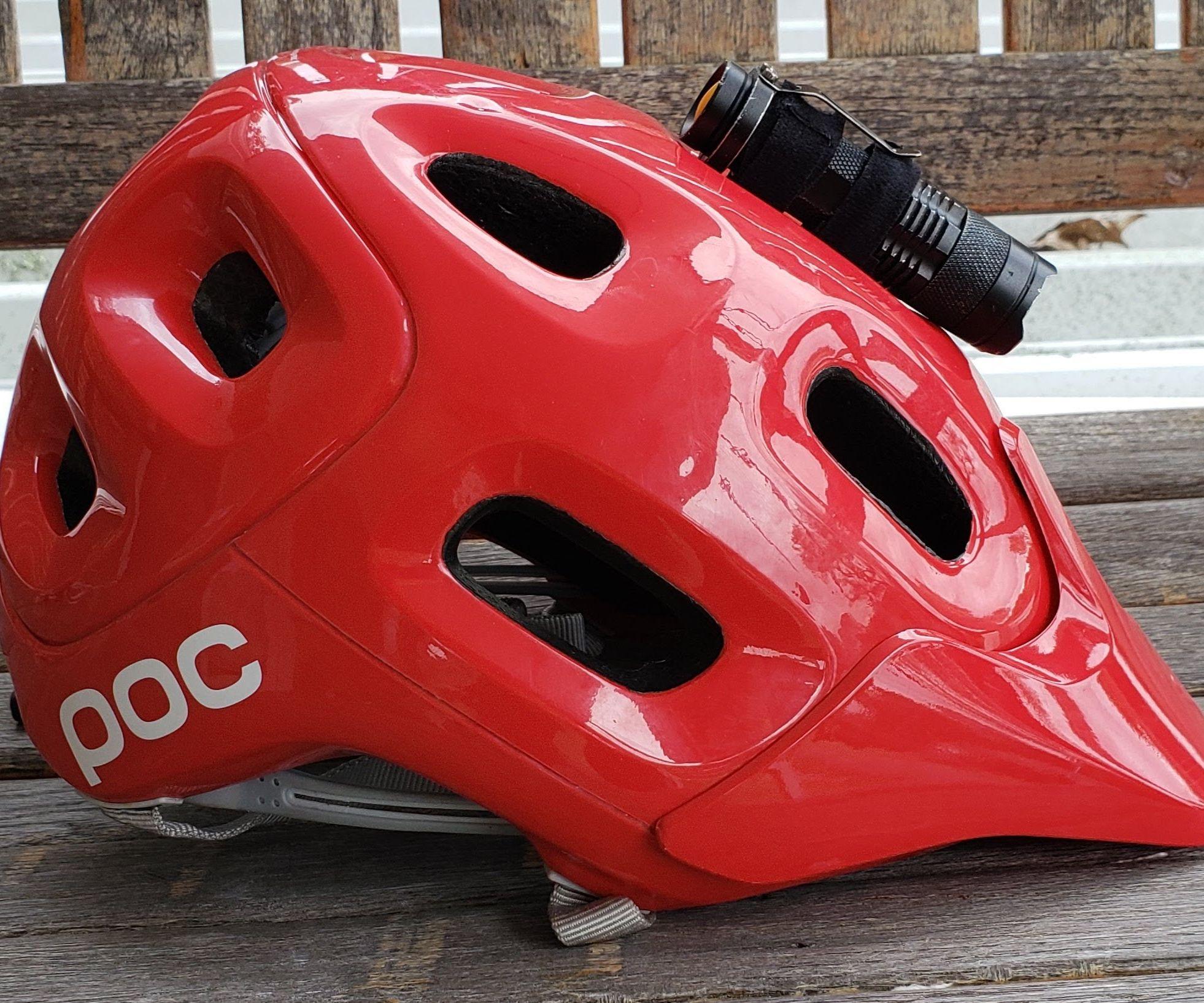 Bicycle Helmet Light Mount