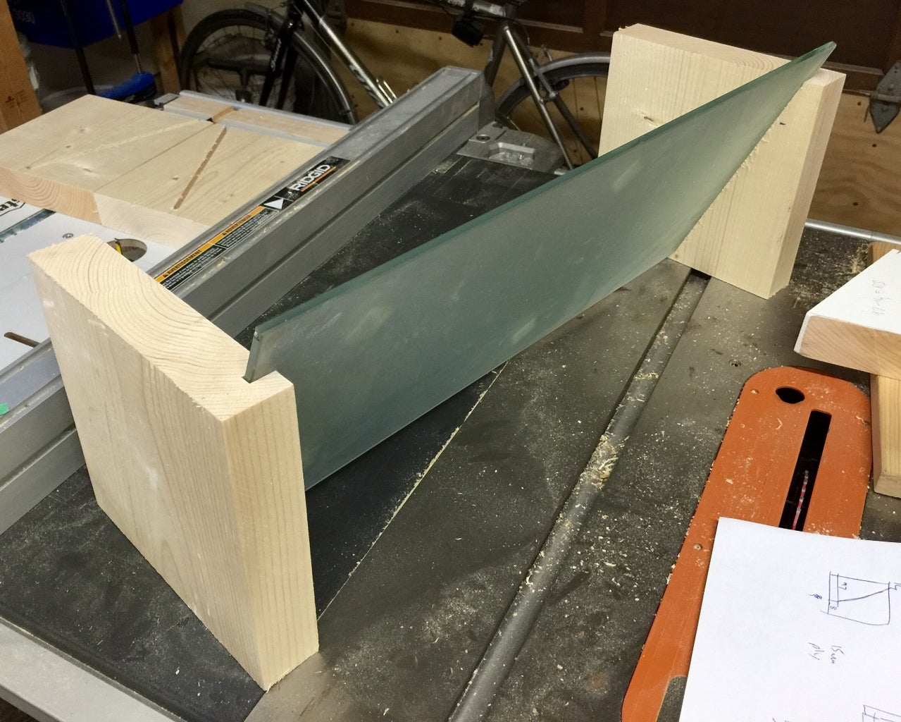 Cut Grooves for Glass
