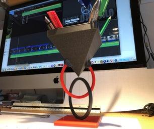 Floating Desk Utensilo - Tensegrity - 3D Printed