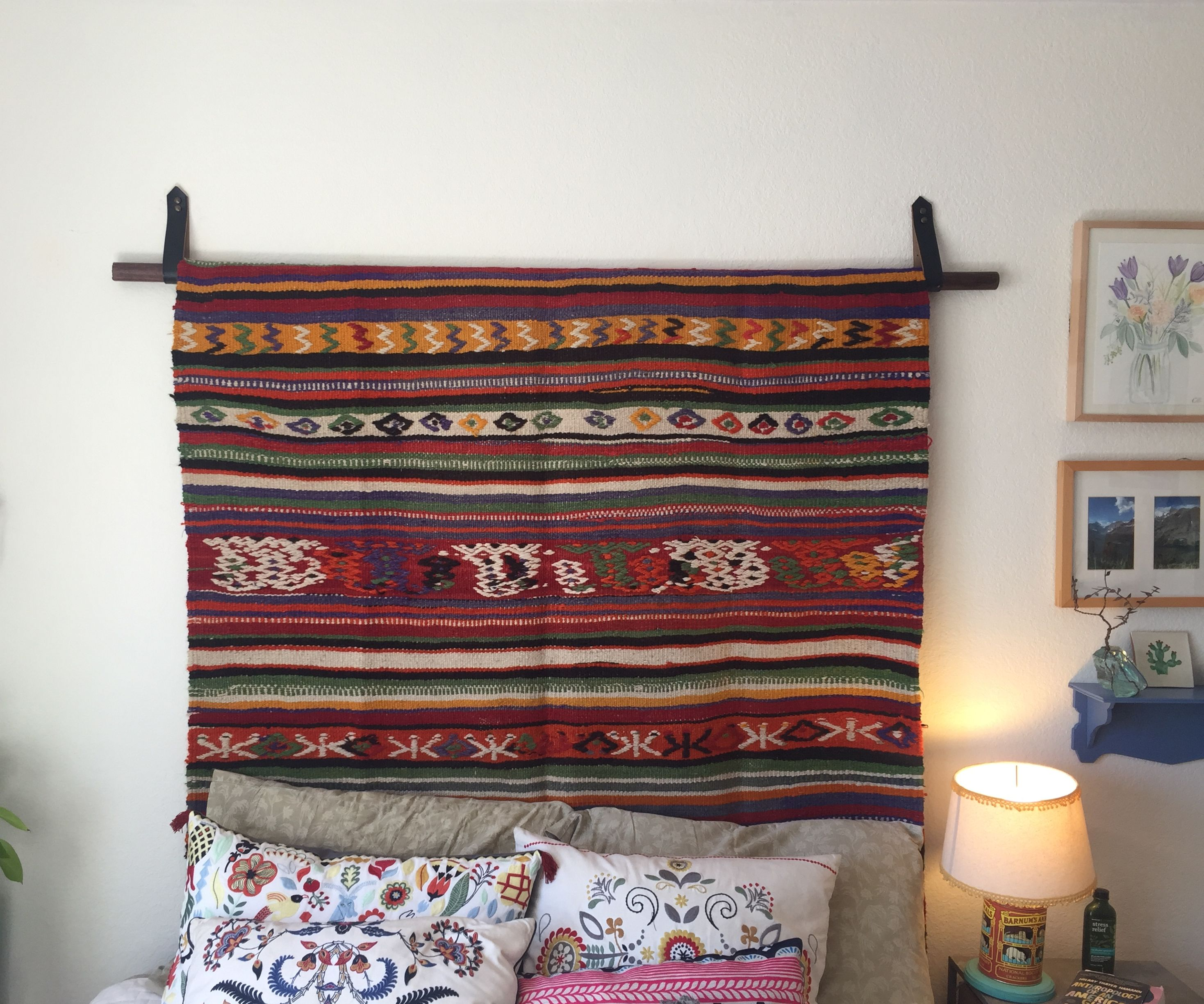 How to Hang a Rug with a Leather Belt